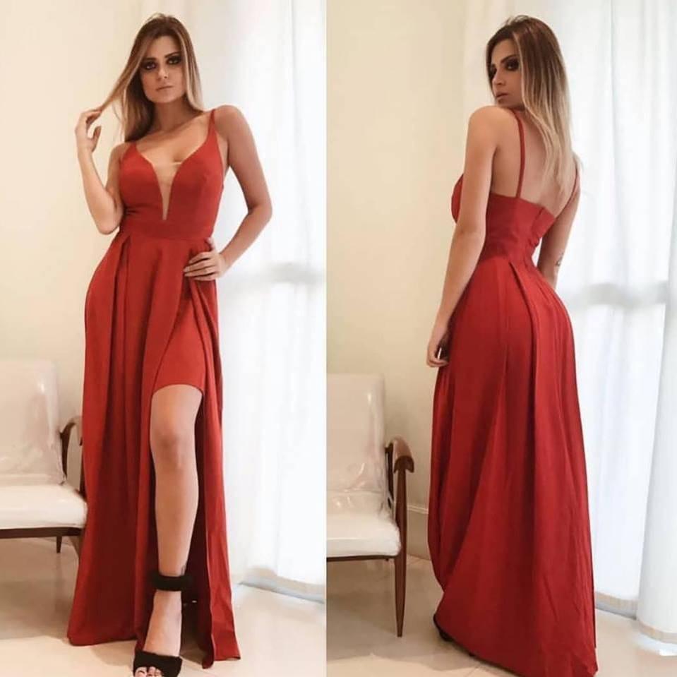 Locação de Vestidos de Festa Vermelho